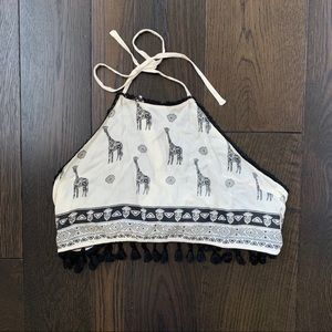 LF Cropped Halter Top